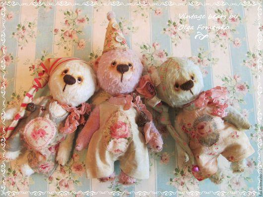 Мишки Тедди ручной работы. Ярмарка Мастеров - ручная работа. Купить Мишка-ангел Ладошкин лавандовый 15 см. Handmade.