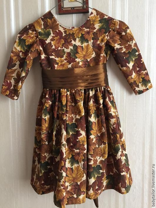 """Одежда для девочек, ручной работы. Ярмарка Мастеров - ручная работа. Купить Платье для девочки """"Осень"""". Handmade. Американский хлопок 100%"""
