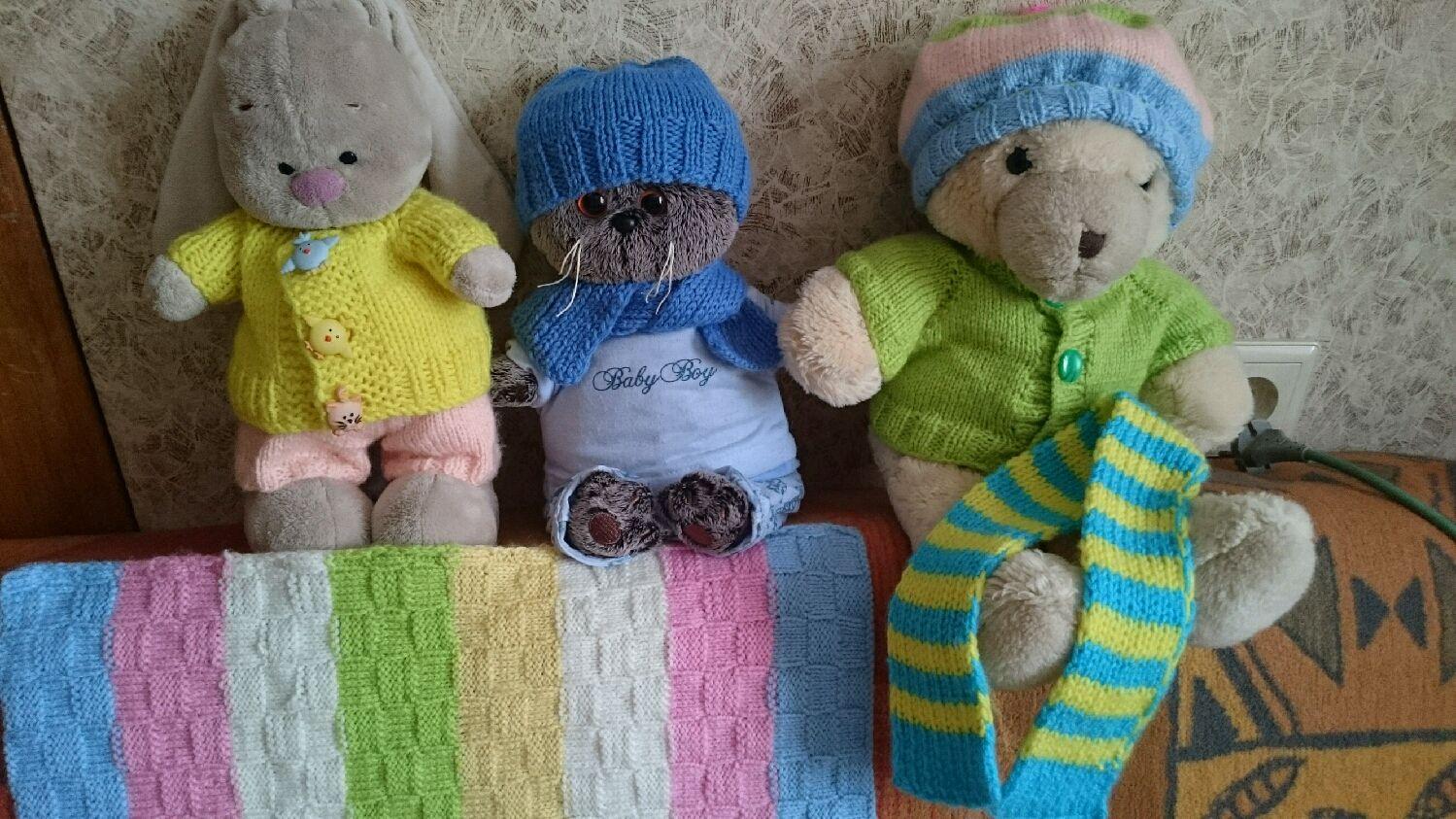Вязание спицами игрушек вещи