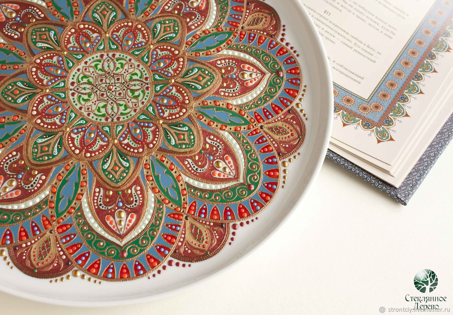 brocade. Collectible plate in oriental style bronze copper, Plates, Rostov-on-Don,  Фото №1