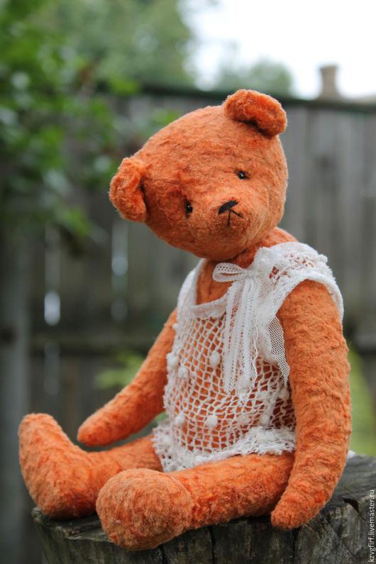 Мишки Тедди ручной работы. Ярмарка Мастеров - ручная работа. Купить Морковный фреш. Handmade. Оранжевый, Плюшевый мишка, плюш