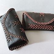 Сумки и аксессуары ручной работы. Ярмарка Мастеров - ручная работа кожаный кейс для очков, для мужчины. Handmade.