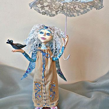 Куклы и игрушки ручной работы. Ярмарка Мастеров - ручная работа Ангел с Синей Птицей.. Handmade.