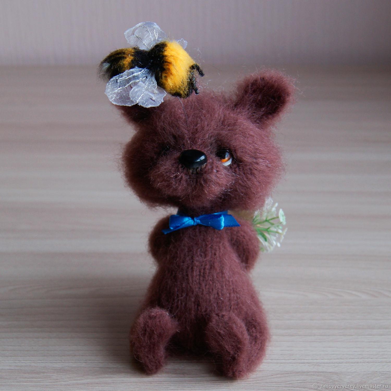 Медвежонок Кнопка, Мягкие игрушки, Санкт-Петербург,  Фото №1