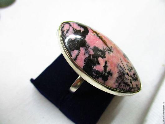 кольцо `Розовые берега`цена2500 родонит пейзажный ,серебро