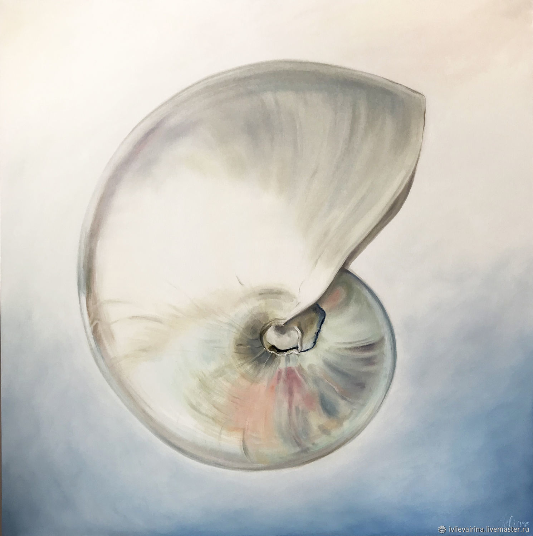 Landscapes handmade. Livemaster - handmade. Buy Oil painting Nautilus 80h80 cm.White, seascape, a wedding gift