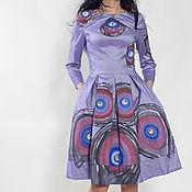 """Платье """"Турецкий глаз"""" с ручной росписью 11272#Скидка 50 %"""