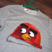 """Одежда ручной работы. Ярмарка Мастеров - ручная работа Футболка """"Angry Birds"""", ручная роспись. Handmade."""
