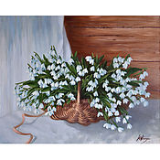 handmade. Livemaster - original item Oil painting snowdrops