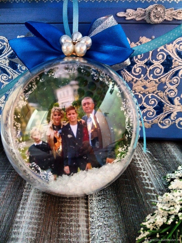 Елочный шар с фотографией, Украшения, Новороссийск, Фото №1