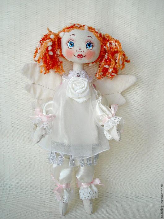 Куклы тыквоголовки ручной работы. Ярмарка Мастеров - ручная работа. Купить Ангел. Handmade. Белый, кукла интерьерная, кукла в подарок