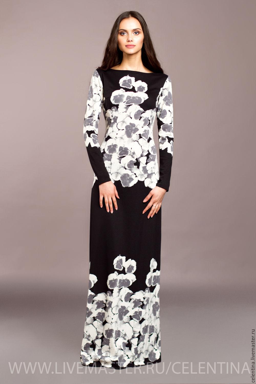 Купить прямое длинное платье