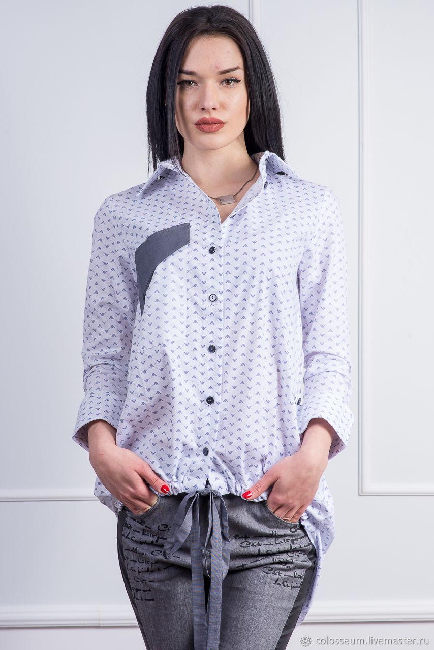 e07eedaa77a3ef1 Ярмарка Мастеров - ручная работа. Купить ХИТ Белая рубашка с принтом ...