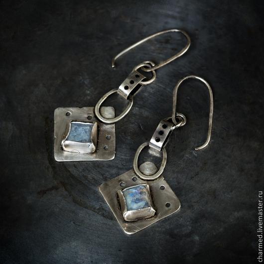 Серьги ручной работы. Ярмарка Мастеров - ручная работа. Купить Серьги из серебра и лунного камня. Handmade. Серебряный, винтаж, адуляр