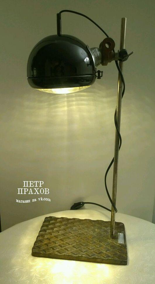"""Освещение ручной работы. Ярмарка Мастеров - ручная работа. Купить Лампа настольная """"Фара"""". Handmade. Ретро, мотоцикл, лофт, металл"""