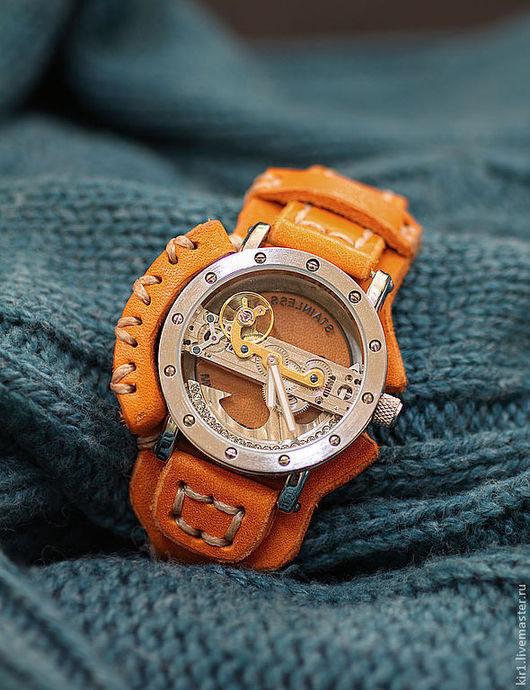 """Часы ручной работы. Ярмарка Мастеров - ручная работа. Купить Часы женские """"LADY-STEAM"""". Handmade. Коричневый, необычные часы"""