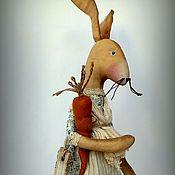Куклы и игрушки ручной работы. Ярмарка Мастеров - ручная работа ЭФРАЗИ крольчиха  в стиле Primitive Folk Art Doll.. Handmade.