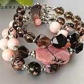 Украшения handmade. Livemaster - original item Bracelet Style. rauchtopaz jadeite rhodonite. Handmade.