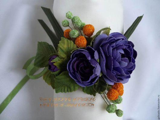 Браслеты ручной работы. Ярмарка Мастеров - ручная работа. Купить Браслет «Виолетт». Handmade. Комбинированный, розы, подарок на день рождения