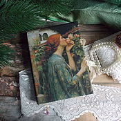 """Канцелярские товары ручной работы. Ярмарка Мастеров - ручная работа Блокнот """" Душа розы """" повтор. Handmade."""