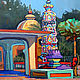 Oil painting. Goa. Ancient temple.Sketch, Pictures, Moscow,  Фото №1