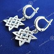 Русский стиль handmade. Livemaster - original item Star of Russia earrings (with stone). Handmade.