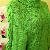 Одежда ручной работы. Ярмарка Мастеров - ручная работа Пуловер ручной работы цвета зеленого яблока.. Handmade.