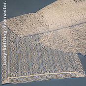 Работы для детей, handmade. Livemaster - original item The lace stole for mom and the godparents.. Handmade.