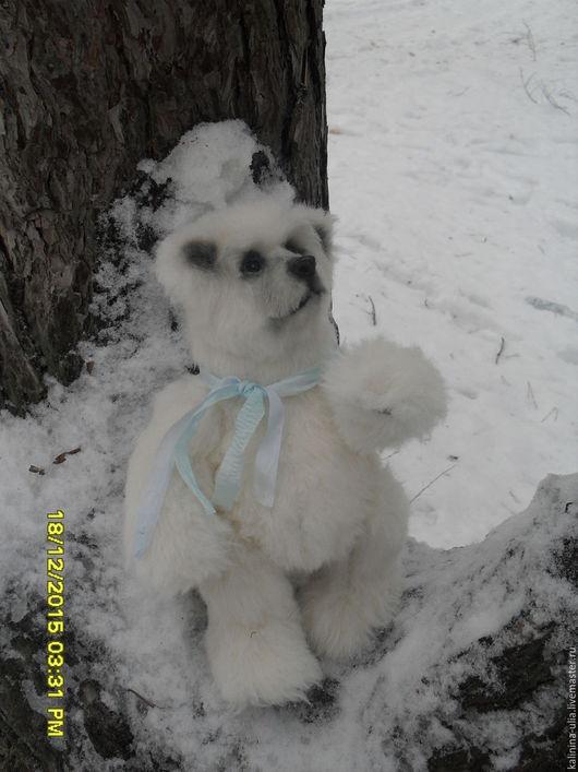 Игрушки животные, ручной работы. Ярмарка Мастеров - ручная работа. Купить Снежок. Handmade. Белый, мишка тедди, handmade, медведь