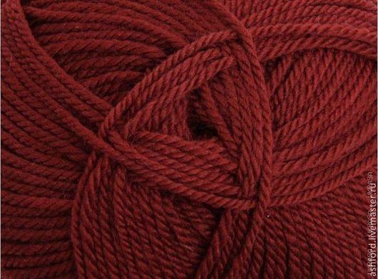 """Вязание ручной работы. Ярмарка Мастеров - ручная работа. Купить Пряжа для вязания, шерсть """"Красное дерево"""",100 g. Handmade."""