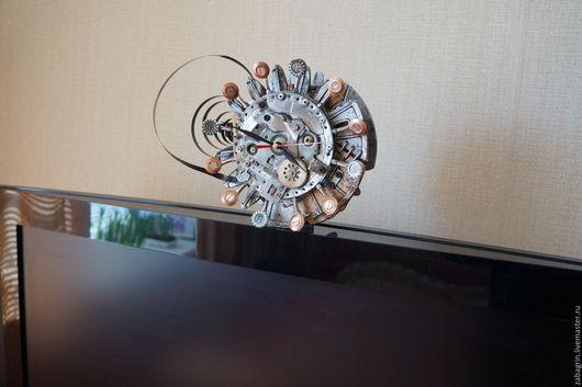 Часы для дома ручной работы. Ярмарка Мастеров - ручная работа. Купить часы настенные стимпанк. Handmade. Комбинированный, стимпанк стиль