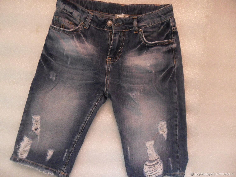 Vintage denim shorts teen,100% cotton,vintage Italy, Vintage clothing, Novorossiysk,  Фото №1
