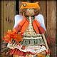 Ароматизированные куклы ручной работы. Заказать Рыжая осень. Фея осенних листочков. Ароматизированная кукла. Надежда Першина. Ярмарка Мастеров.