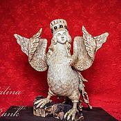 """Статуэтки ручной работы. Ярмарка Мастеров - ручная работа """"Сирин"""" скульптура. Handmade."""