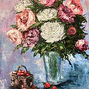 Картины и панно handmade. Livemaster - original item Painting flowers in a vase
