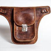 Сумки и аксессуары handmade. Livemaster - original item Biker hip bag with strap.. Handmade.