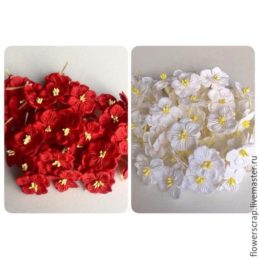 Цветы гортензии, 30мм., 1уп.(50шт.) - 370р.