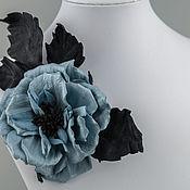 Украшения ручной работы. Ярмарка Мастеров - ручная работа Брошь `` Голубая роза - цвет прекрасных грез ...``. Handmade.
