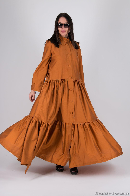 Яркое, стильное платье-рубашка из хлопка - KA0195CT, Платья, София,  Фото №1