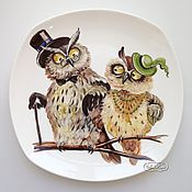 Посуда handmade. Livemaster - original item Painted porcelain Plate Sowosky. Handmade.