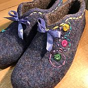 Обувь ручной работы. Ярмарка Мастеров - ручная работа Валяные тапочки микс. Handmade.