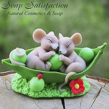 """Косметика ручной работы. Ярмарка Мастеров - ручная работа Мыло ручной работы  """"Мышки в горохе"""". Handmade."""