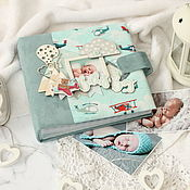 Канцелярские товары handmade. Livemaster - original item Photo album with frame for baby photo. Handmade.