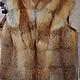 Верхняя одежда ручной работы. Ярмарка Мастеров - ручная работа. Купить Жилет из лисы. Handmade. Коричневый, Жилет женский, мех