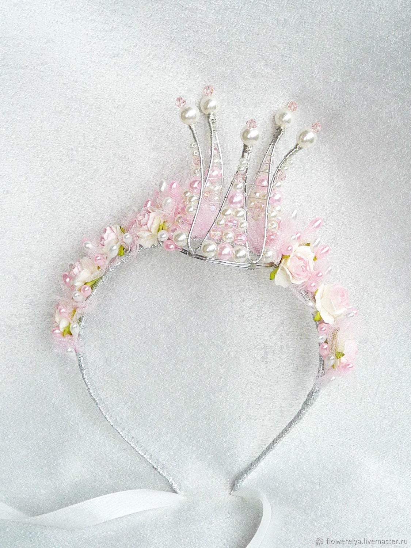 Диадемы, обручи ручной работы. Ярмарка Мастеров - ручная работа. Купить Корона для принцессы 'Инфанта'Корона на ободке. Handmade. Корона