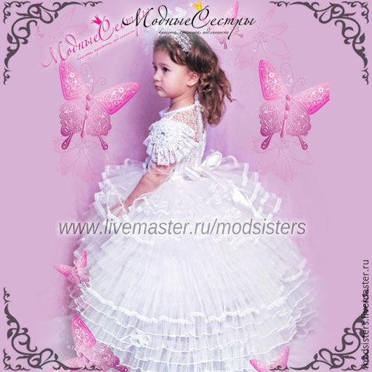 """Одежда для девочек, ручной работы. Ярмарка Мастеров - ручная работа. Купить Платье """"Белая лебедь"""" с эполетами Арт. 254. Handmade."""