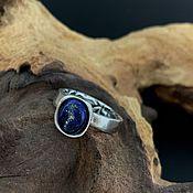 Кольца ручной работы. Ярмарка Мастеров - ручная работа Серебряное кольцо с лазуритом. Handmade.