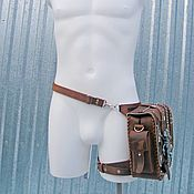 Сумки и аксессуары handmade. Livemaster - original item Waist bag: Bag on your hip. Handmade.