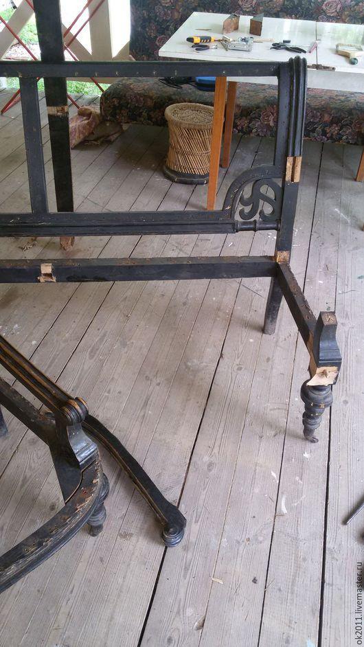 Винтажные предметы интерьера. Ярмарка Мастеров - ручная работа. Купить Реставрация дивана. Handmade. Бежевый, мебель ручной работы, бархат