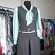 женский деловой костюм из шерсти с юбкой-брюками и жилеткой. Офисный женский костюм на прохладную погоду из костюмной шерсти. Широкие юбка-брюки и женская жилетка на пуговицах.